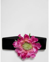 Rock N Rose - Black Rock N Rose Flower Corsage Choker - Lyst