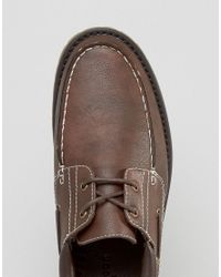 New Look - Boat Shoes In Brown for Men - Lyst