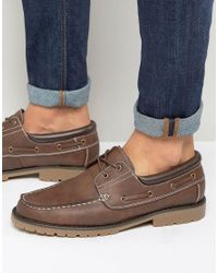 New Look | Boat Shoes In Brown for Men | Lyst