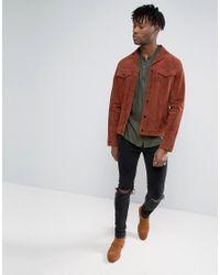 ASOS - Green Regular Fit Viscose Shirt With Grandad Collar for Men - Lyst