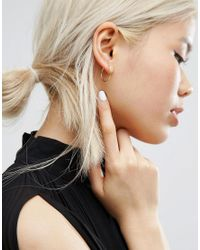 Pieces - Metallic Belinda Hoop Multipack Earrings - Lyst