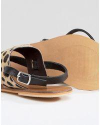 Warehouse - Multicolor Animal Toe Post Sandal - Lyst