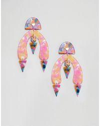 ASOS - Earrings In Mixed Multicolor Resin Shape Design - Lyst