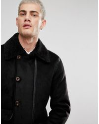 Pretty Green - Bassett Coat In Black for Men - Lyst