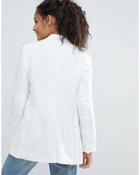 Bershka - White Longline Blazer - Lyst