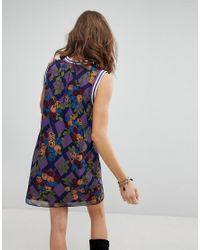 Anna Sui - Blue Rose Trellis Chiffon Shift Dress - Lyst