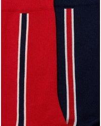 Tommy Hilfiger - Red Sock In 2 Pack for Men - Lyst