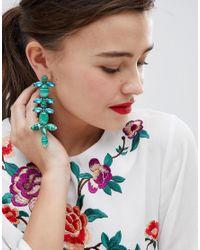 ASOS DESIGN - Metallic Statement Jewel Vine Earrings - Lyst