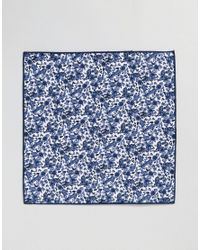 SELECTED - Blue Pocket Square for Men - Lyst