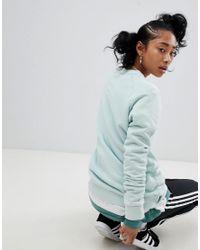 Adidas Originals - Green Adicolor Trefoil Oversized Sweatshirt In Mint - Lyst
