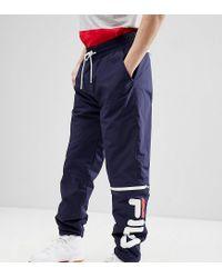 12c8e506c27e1 Fila Black Line Ski Joggers With Logo in Blue for Men - Lyst