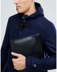 ASOS - Blue Wool Mix Duffle Coat In Navy for Men - Lyst