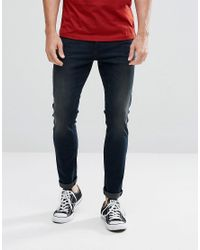 Lee Jeans - Blue Malone Super Skinny Jeans Over Dye for Men - Lyst