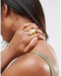Sam Ubhi - Metallic Wrap Around Leaf Ring - Gold - Lyst