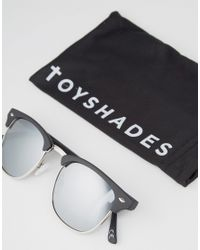 ToyShades - Multicolor Half Frame Sunglasses With Mirror Lens - Lyst