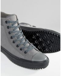 158883cac23ab8 Lyst - Converse Chuck Taylor All Star Boot Pc Plimsolls In Grey ...