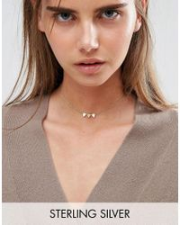 ASOS | Metallic Gold Plated Sterling Silver Bunting Choker Necklace | Lyst