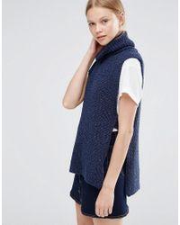 Vero Moda | Blue Rollneck Gillet Jumper | Lyst