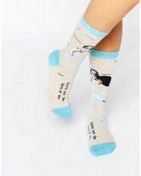Blue Q - Blue Not The Boss Socks - Lyst