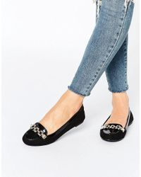 Oasis | Black Chain Loafer | Lyst