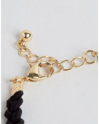 ASOS | Black Pack Of 4 Tattoo And Charm Layering Bracelets | Lyst