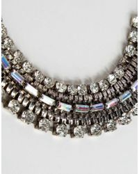New Look - Metallic Chain Collar - Silver - Lyst