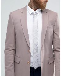 ASOS - Pink Silk Wedding Tie In Floral Design for Men - Lyst