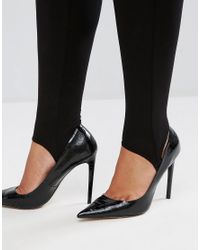 Club L - Black Plus Stirrup Leggings - Lyst