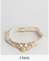 Ashiana   Multicolor 3 Pack Beaded Bracelets   Lyst