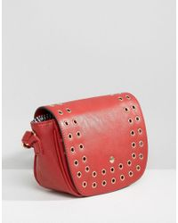 Yoki Fashion - Red Eyelet Cross Body Bag - Lyst