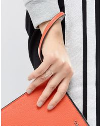 Monki - Metallic Sterling Silver Female Ring - Lyst