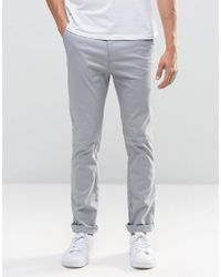 New Look - Gray Skinny Fit Chinos In Grey for Men - Lyst