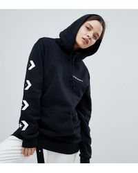 Converse - Star Chevron Graphic Pullover Hoodie In Black - Lyst