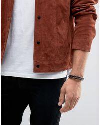 Jack & Jones | Jacjack Leather Plait Bracelet In Black for Men | Lyst