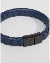 Seven London - Brown Leather Bracelet for Men - Lyst