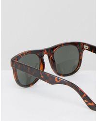 ASOS - Brown Square Sunglasses In Tort for Men - Lyst