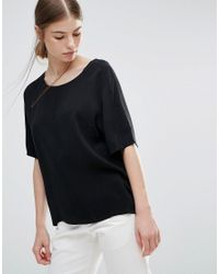 Just Female | Black Orion Blouse | Lyst