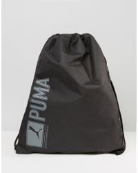 PUMA | Pioneer Drawstring Backpack In Black 7346801 for Men | Lyst