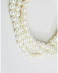 Missguided - Metallic Pearl Choker - Lyst