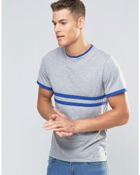 Native Youth | Blue T-shirt With Contrast Stripe for Men | Lyst