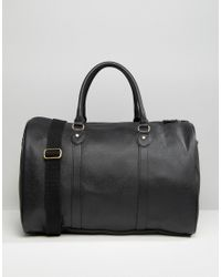 ASOS | Smart Holdall In Black Faux Leather - Black for Men | Lyst