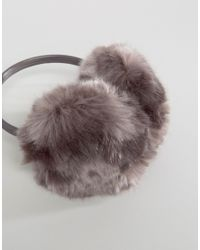 Ted Baker - Purple Faux Fur Ear Muffs - Lyst