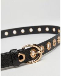 Glamorous | Eyelet Detail Belt - Black | Lyst