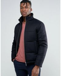 Reiss | Blue Quilted Bomber for Men | Lyst