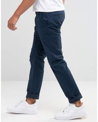 French Connection - Blue Rifle Stretch Satain - Navy for Men - Lyst