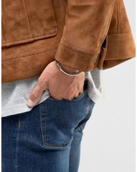 ASOS - Metallic Smart Metal And Rope Bracelet In Tan And Silver for Men - Lyst