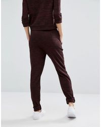 Vero Moda | Brown Knitted Staight Leg Pants | Lyst