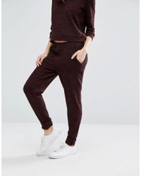 Vero Moda - Brown Knitted Staight Leg Pants - Lyst