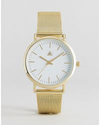 ASOS - Metallic Gold Clean Mesh Strap Watch - Lyst