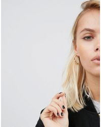 ASOS - Metallic Tough Girl 25mm Hoop Earrings - Lyst
